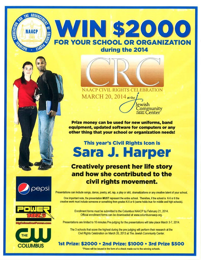 NAACP Civil Rights Celebration flier
