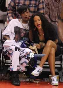 Rihanna at the Clippers game in LA