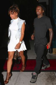 Christina Milian and Lil Wayne step out for a Mastro's Dinner Date