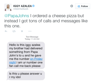 iggy papa johns tweets