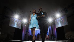 Black models on fashion runway