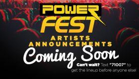 Powerfest teaser graphics