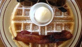 breakfast - bacon & waffles