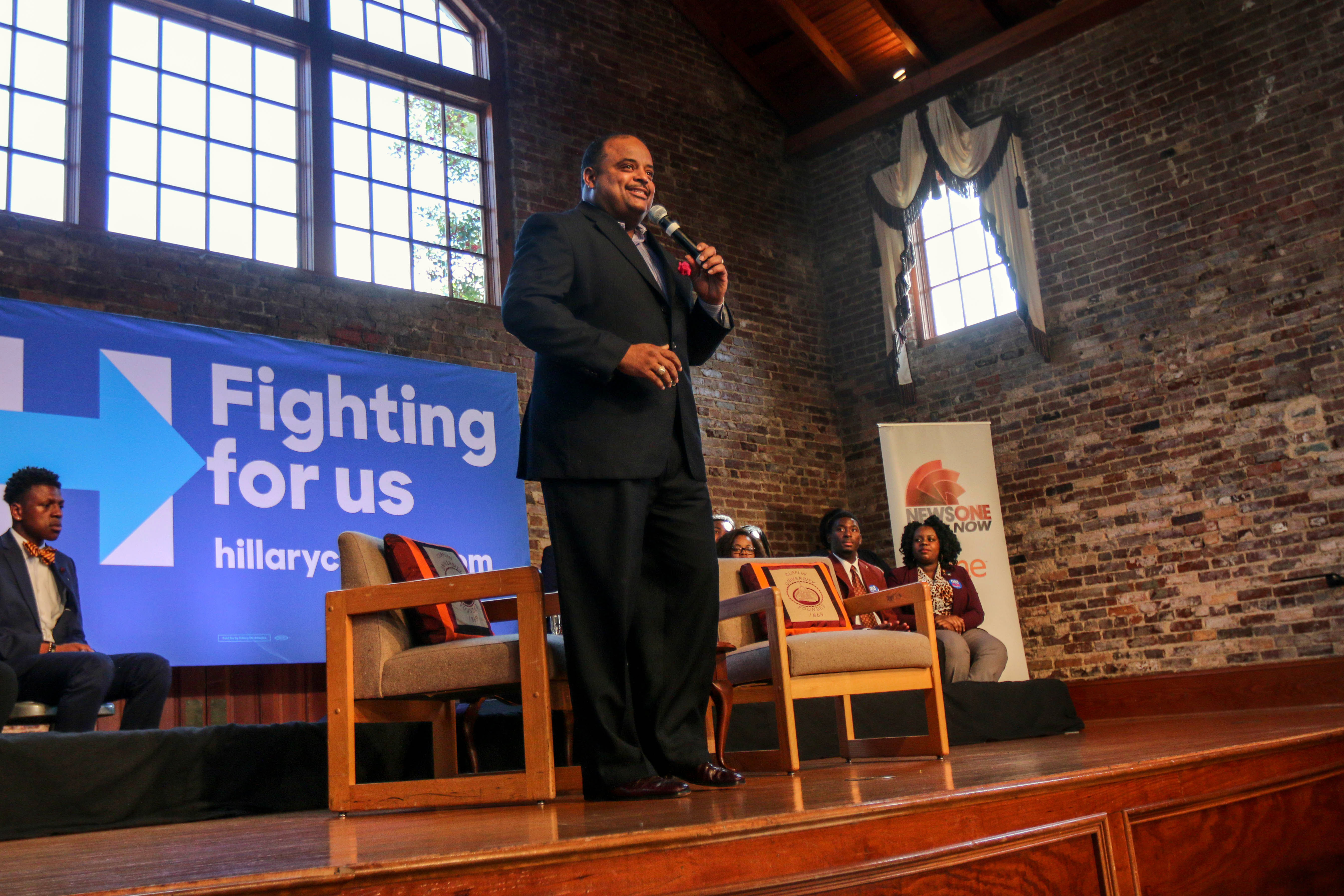 Hillary Clinton Town Hall Moderated By Roland Martin