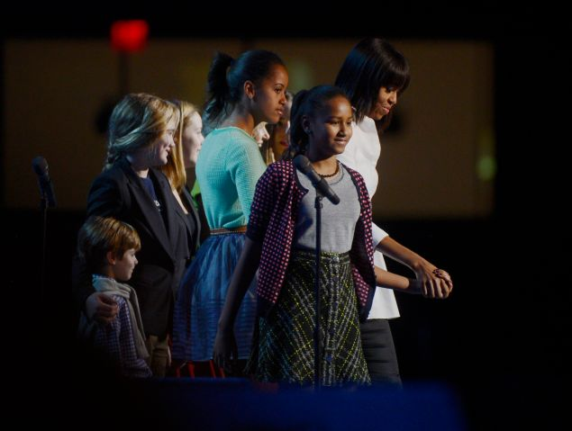 First Lady Michelle Obama and Dr. Jill Biden attend the Kids Inaugural celebrationa and concert in Washington, DC.