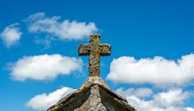 Cross of traditional chapel in Auvergne. France