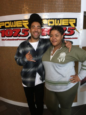 KYLE Visits Power 107.5