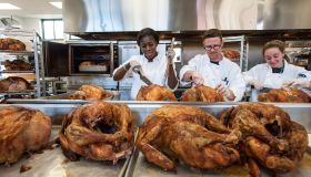 Thanksgiving Dinner prep at Pine St. Inn, Boston