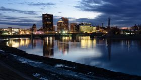 Dayton, Ohio Skyline in the Evening