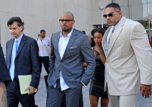 Singer Chris Brown at Cthouse