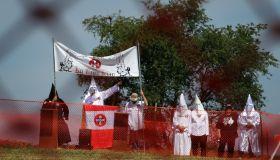 KKK Hold Rally at Civil War Battlefield Of Antietam