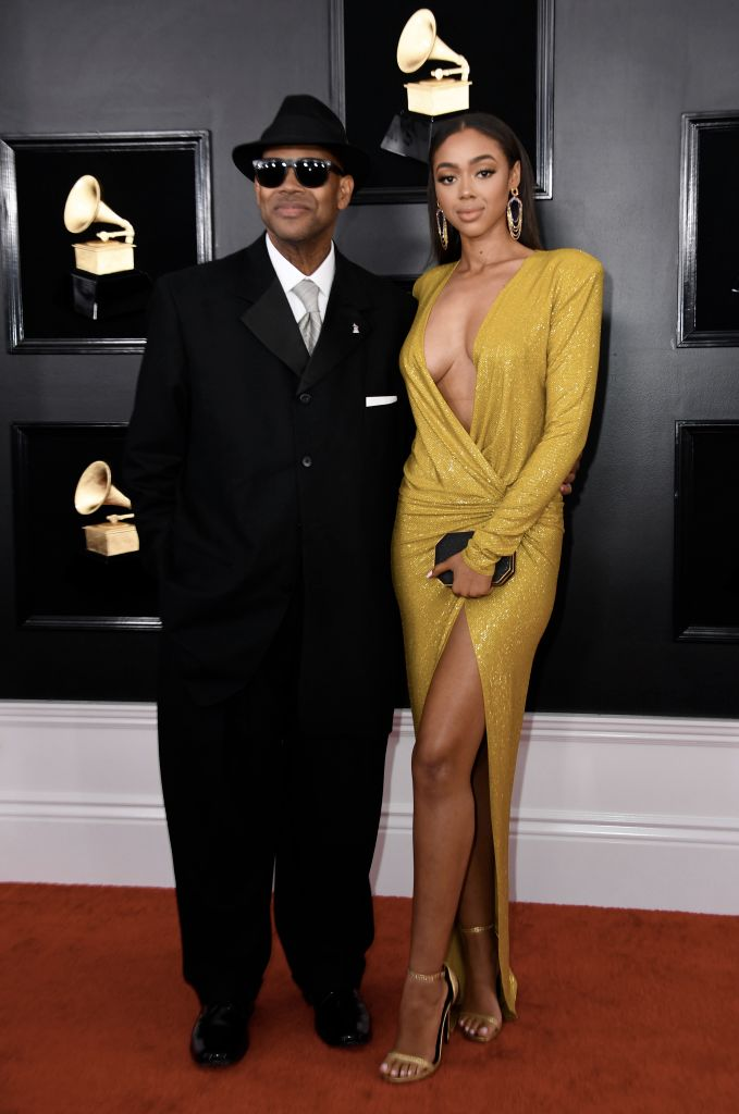 Jimmy Jam and Bella Harris at 61st Annual GRAMMY Awards