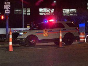 Columbus Police Car at Night