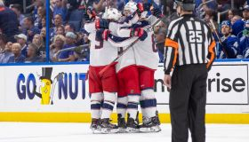 NHL: APR 10 Stanley Cup Playoffs First Round - Blue Jackets at Lightning