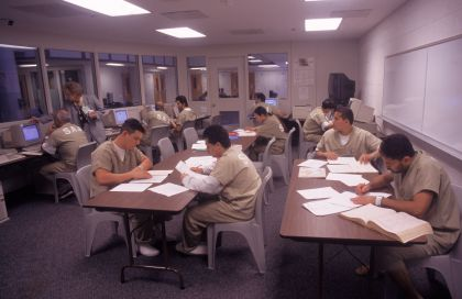 Inmates in study program, Santa Ana, CA
