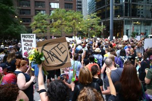 Protest in Chicago Against Violence in Charlottesville