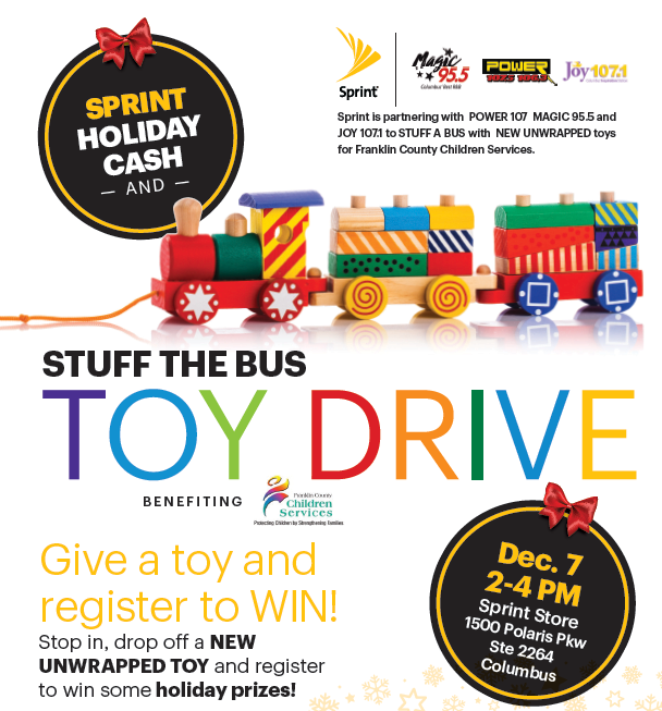 Stuff the Bus Toy Drive Event 12/7