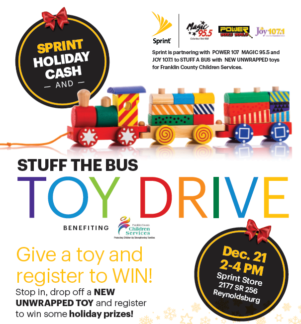 Sprint Stuff the Bus Toy Drive 12/21