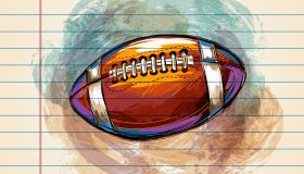 American football Drawing on Ruled Paper