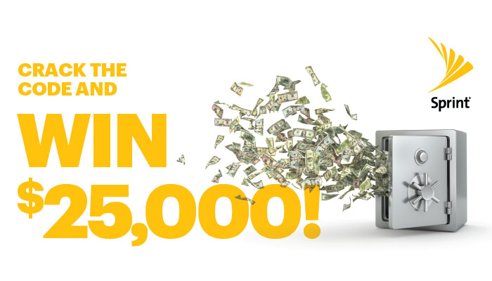 Sprint Crack the Code and Win $25K