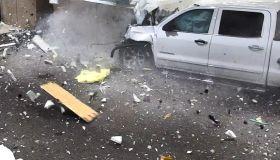 Car Crashes Into Airport Terminal
