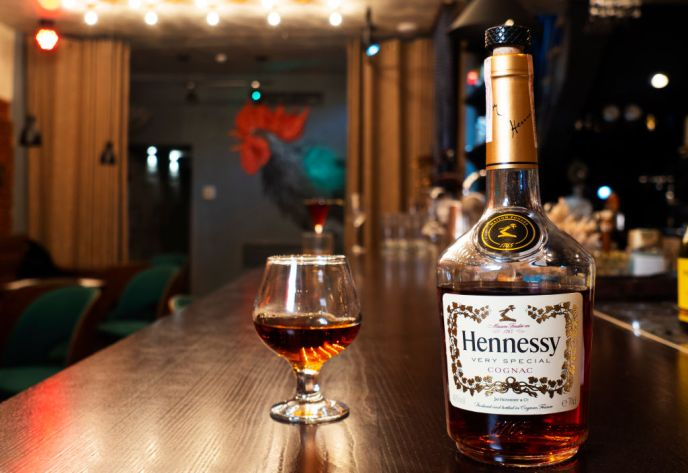 In this photo illustration, Cognac Hennessy VS at the bar...