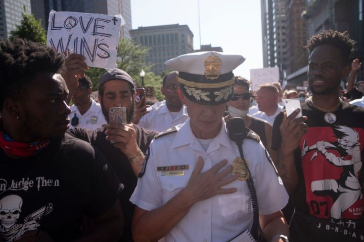 Powerful Pictures from Back Lives Matter Protest in Columbus