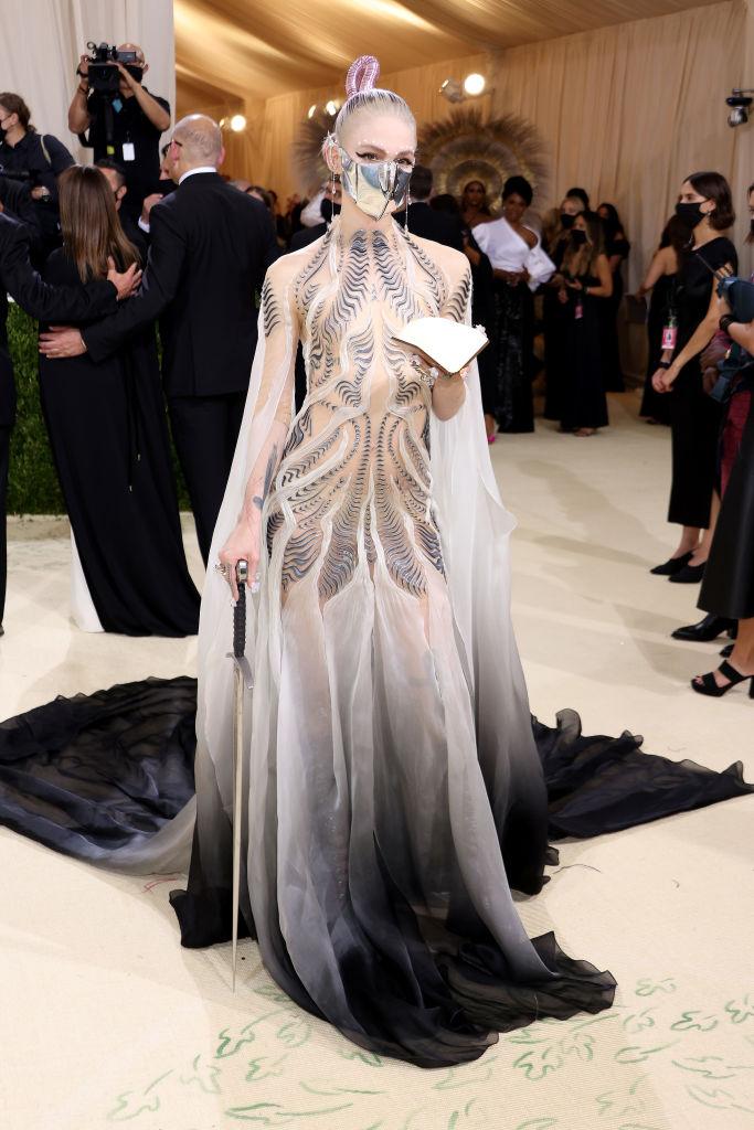 Grimes wearing Iris Van Herpen