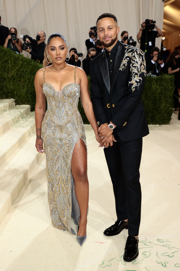 Ayesha Curry and Stephen Curry in Versace
