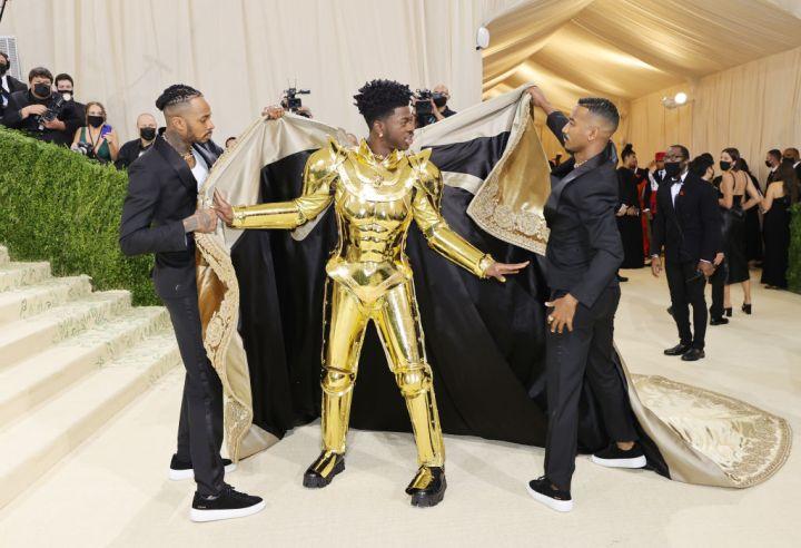 Lil Nas X wearing Versace