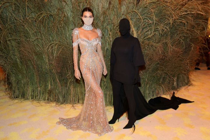 Kendall Jenner wearing Givenchy and Kim Kardashian wearing Balenciaga