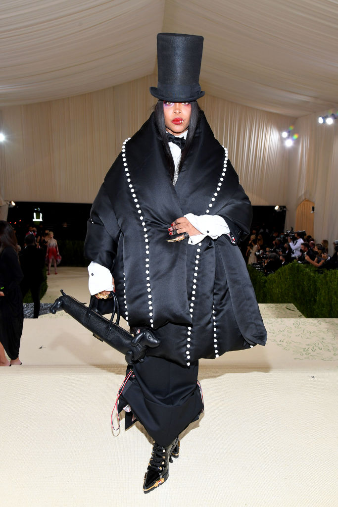 Erykah Badu wearing Them Browne